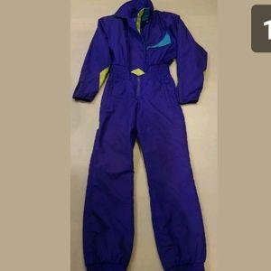 Vintage Obermeyer Purple Ski snow suit one piece